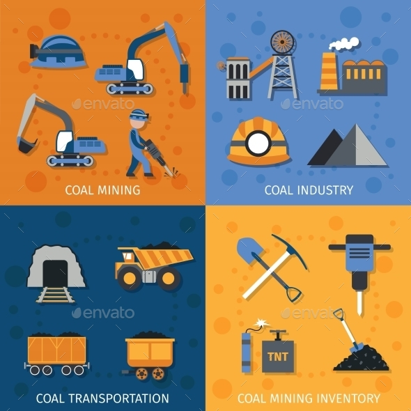 GraphicRiver Coal Industry Set 10426269