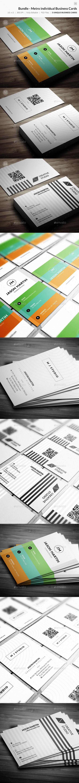 GraphicRiver Bundle Metro Individual Business Cards 73 10374703