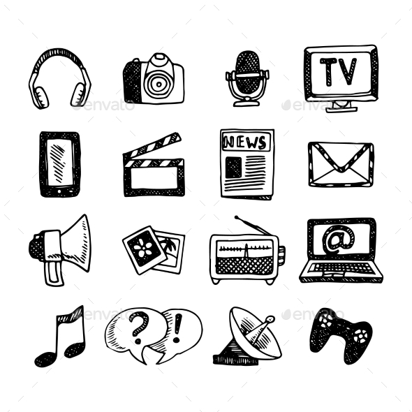 GraphicRiver Media Icons Set 10426278
