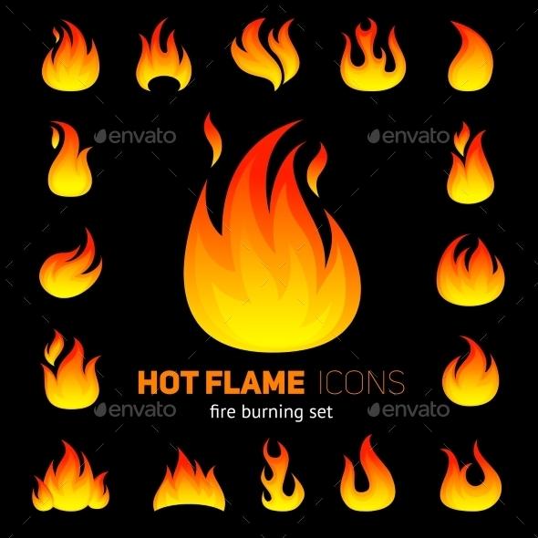 GraphicRiver Fire Icon Set 10426438