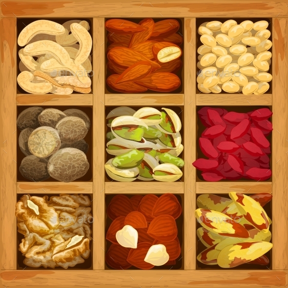 GraphicRiver Nuts Collection Assorted 10426513