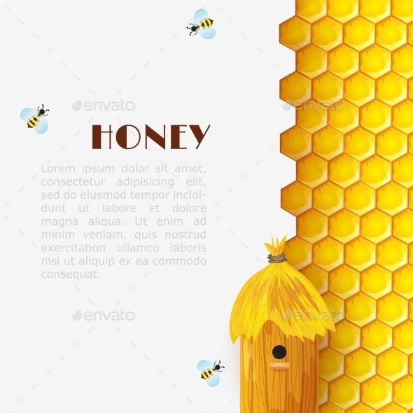 Honey Beehive Background