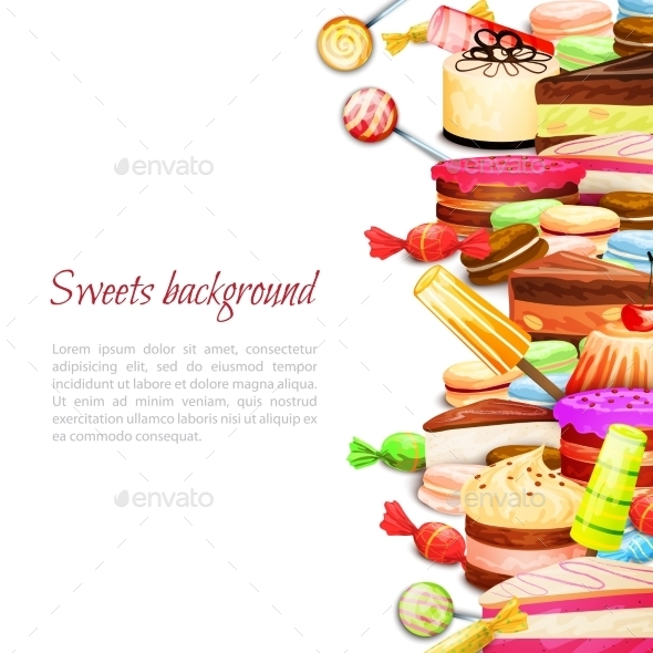 GraphicRiver Sweet Food Background 10426577