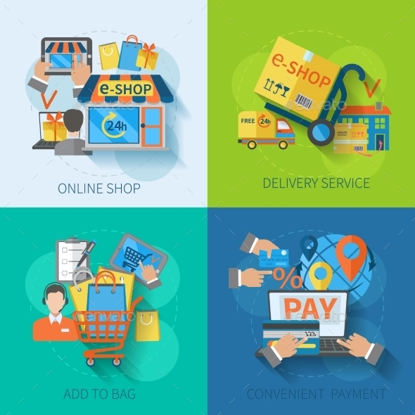 GraphicRiver Shopping E-commerce Flat 10426636