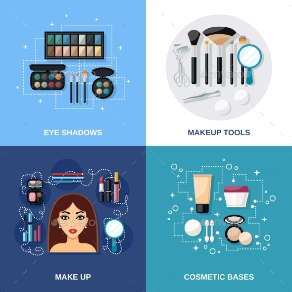 GraphicRiver Makeup Flat Set 10426676