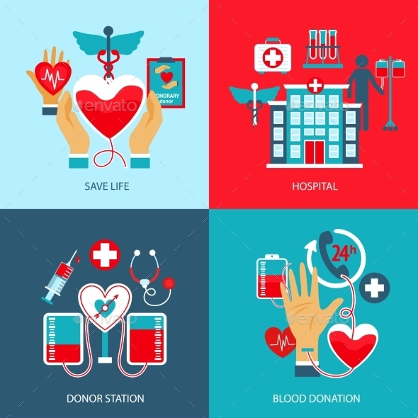 GraphicRiver Donor Concept Set 10426705