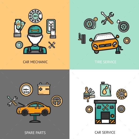GraphicRiver Auto Service Set 10426714