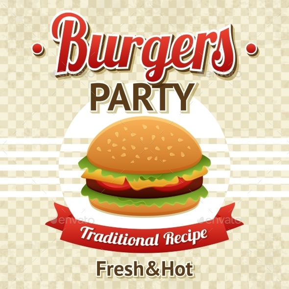 GraphicRiver Burger Party Poster 10426720