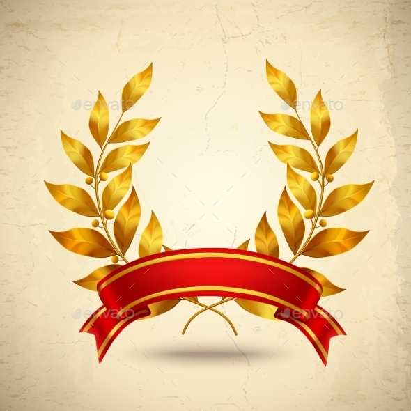 GraphicRiver Laurel Wreath Realistic 10427056