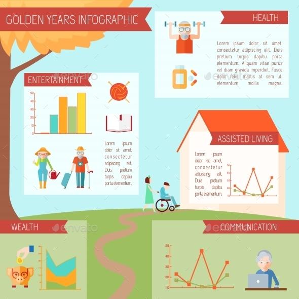 GraphicRiver Senior Lifestyle Infographics 10427081