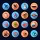 Space Icons Flat - GraphicRiver Item for Sale