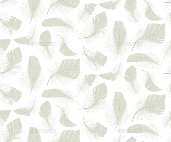 GraphicRiver Feather Seamless Pattern 10427205