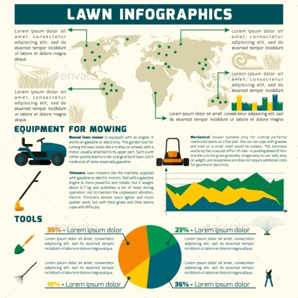 GraphicRiver Lawn Inforgaphic Set 10427212