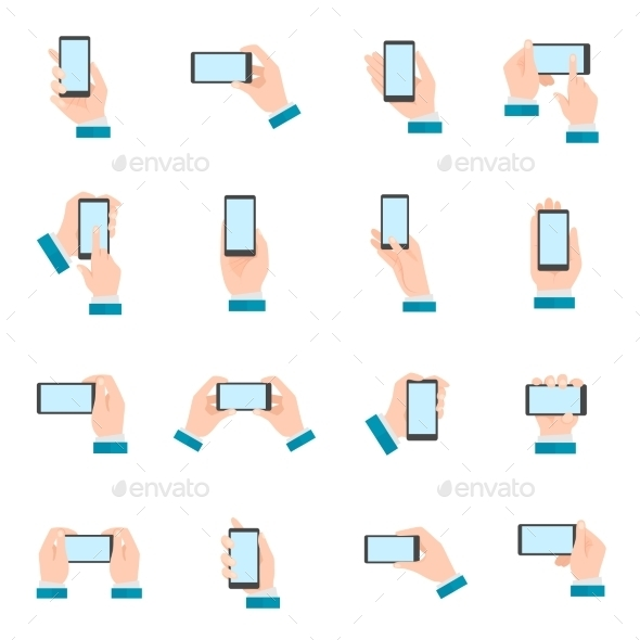 GraphicRiver Hand With Phone Icons 10427214
