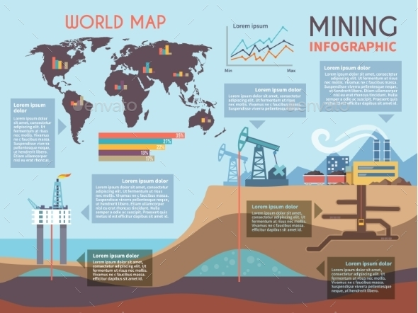 GraphicRiver Mining Infographics Set 10427218