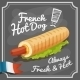 French Hot Dog Poster - GraphicRiver Item for Sale