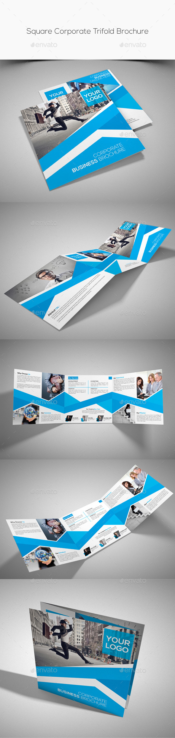 GraphicRiver Square Corporate Trifold Brochure 10427246