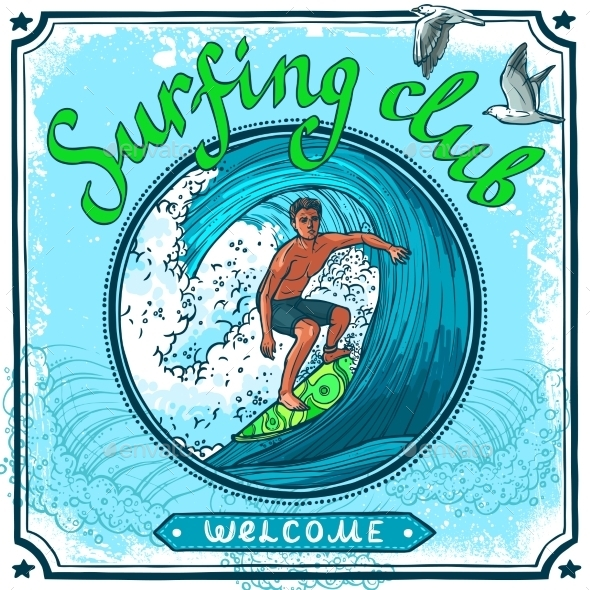 GraphicRiver Surfing Poster 10427287