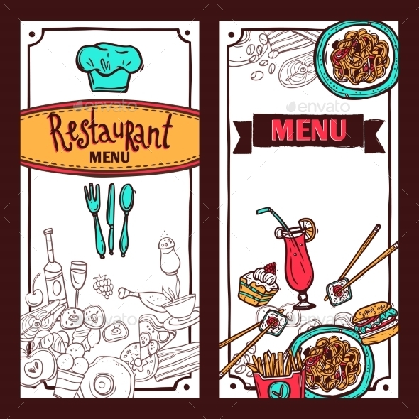 GraphicRiver Restaurant Menu Food Banners Set 10427300