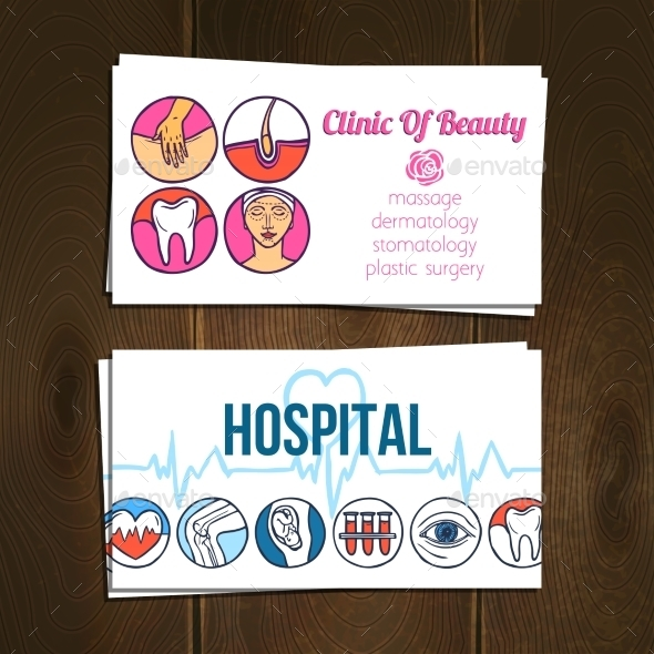 GraphicRiver Medical Cards Set 10427373