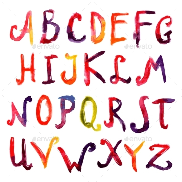GraphicRiver Hand Drawn Alphabet 10427379