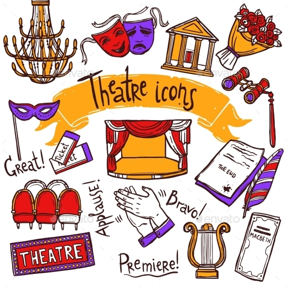GraphicRiver Theater Icons Set 10427423