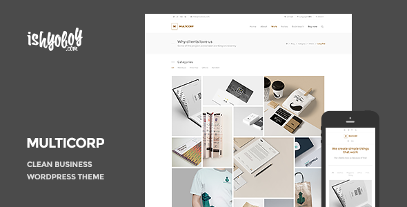 ThemeForest Multicorp Clean Business WordPress Theme 10394099