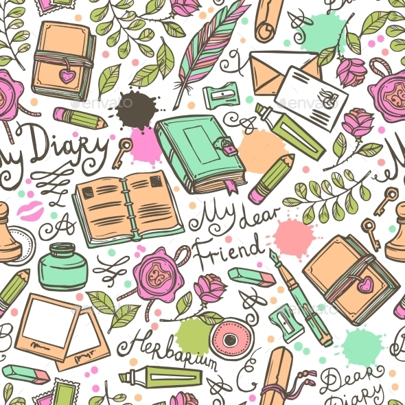 GraphicRiver Diary Seamless Pattern 10427471