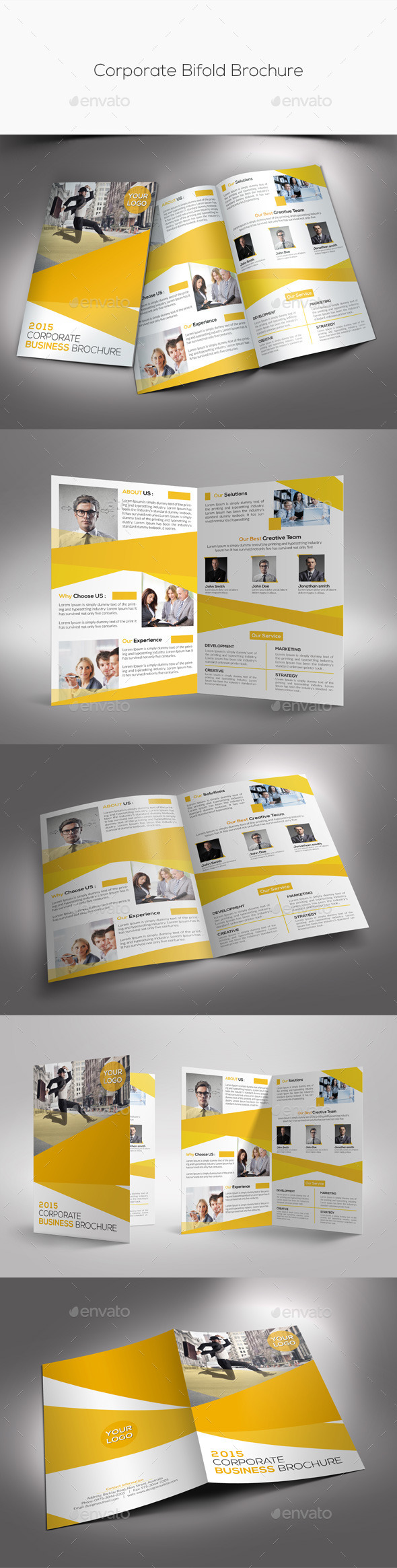 GraphicRiver Corporate Bifold Brochure 10427485