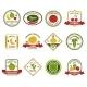 Fruit Vegetables Labels Set Color - GraphicRiver Item for Sale