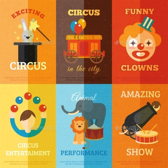 GraphicRiver Circus Poster Set 10427510
