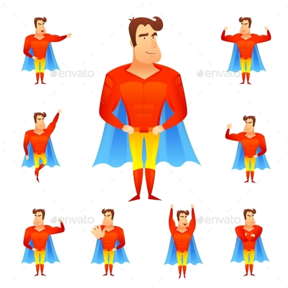 GraphicRiver Superhero Avatar Set 10427528