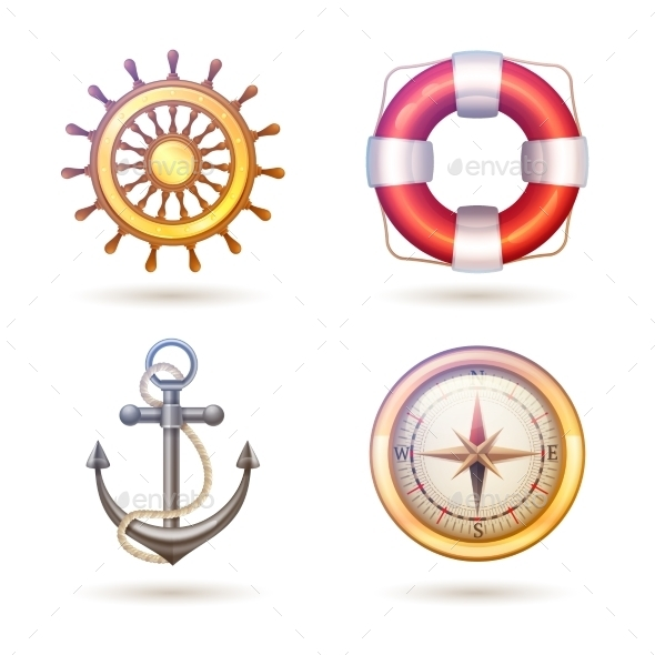 GraphicRiver Marine Symbols Set 10427534