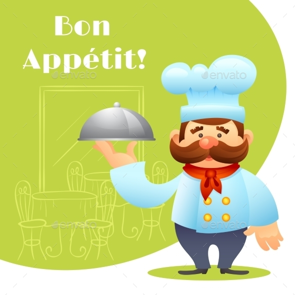 GraphicRiver Chef With Tray Poster 10427539