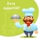 Chef With Tray Poster - GraphicRiver Item for Sale