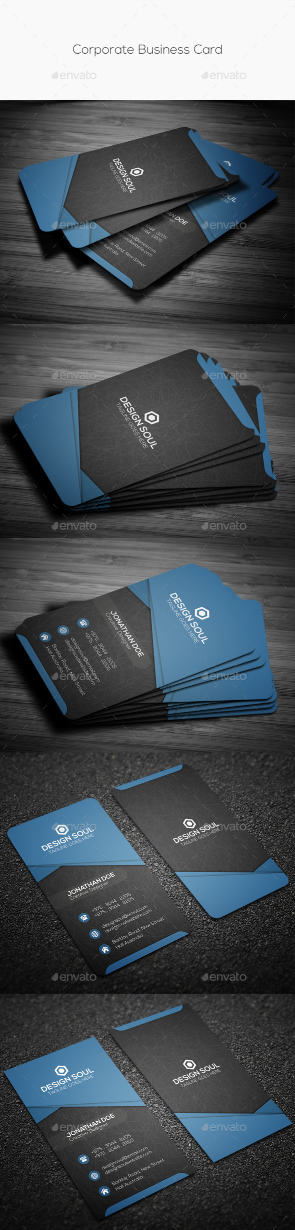 GraphicRiver Corporate Business Card 10427544