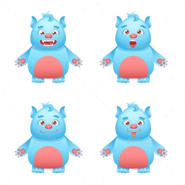 GraphicRiver Monster Character Set 10427545