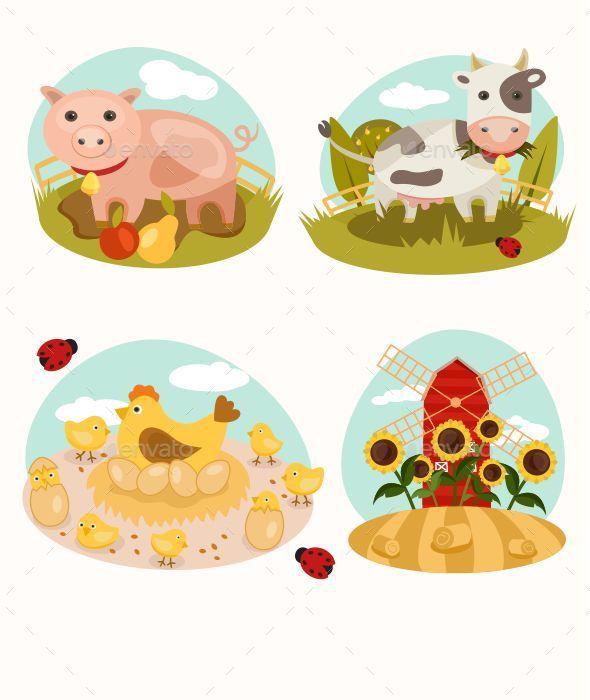 GraphicRiver Animals on the Farm 10427571