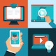 Vector Online Education Concepts - GraphicRiver Item for Sale