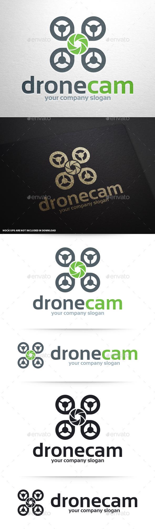 GraphicRiver Drone Cam Logo Template 10427748