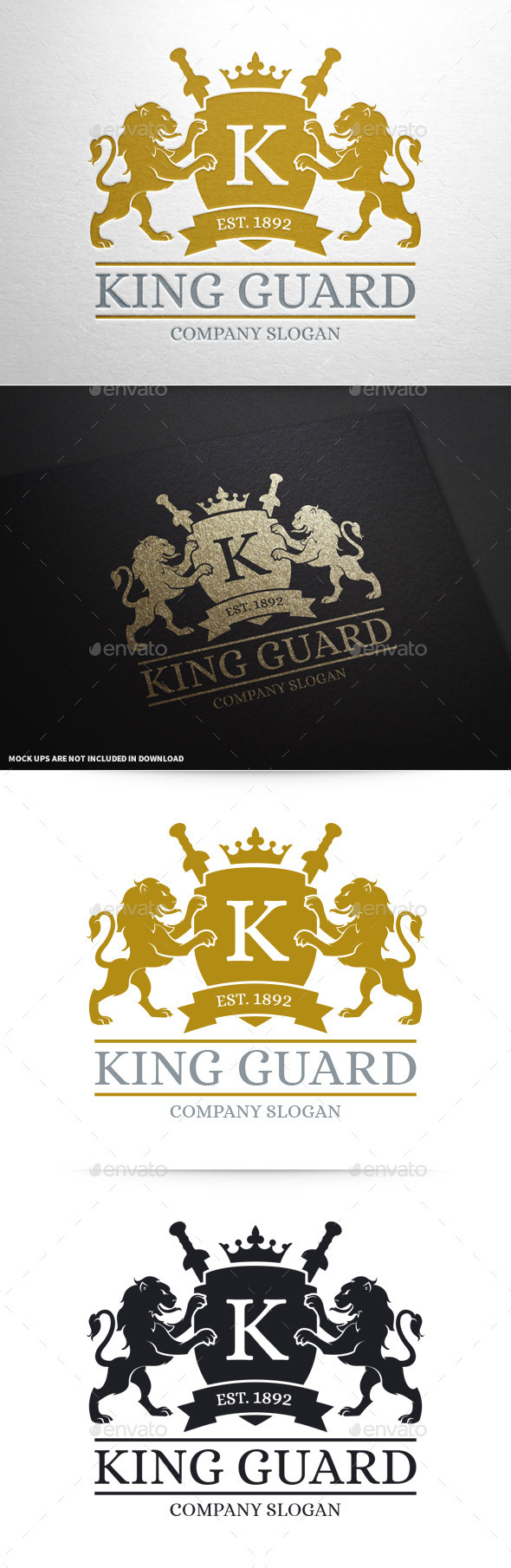 GraphicRiver King Guard Logo Template 10427773