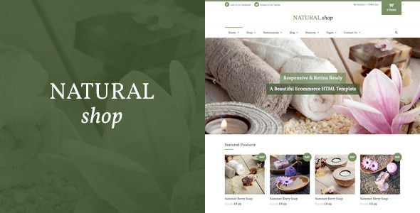 ThemeForest Natural Shop Responsive eCommerce HTML Template 10427846