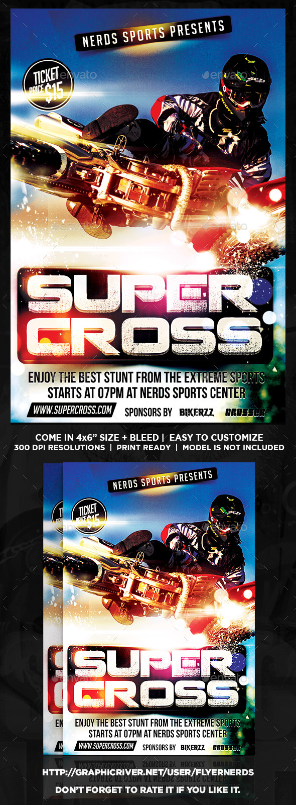 GraphicRiver SuperCross Championships Sports Flyer 10427910