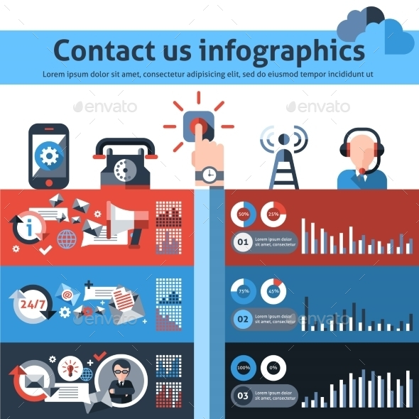 GraphicRiver Contact us infographics 10428109