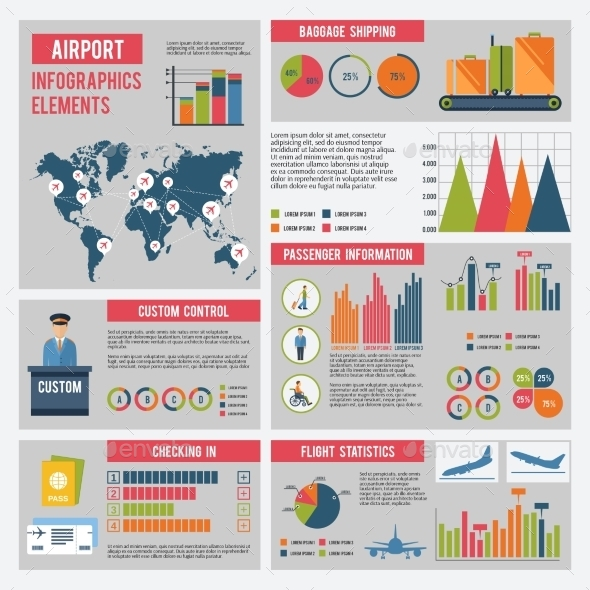 GraphicRiver Airport Infographics Set 10428111