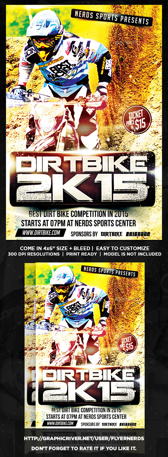 GraphicRiver Dirt Bike Championships Sports Flyer 10372583