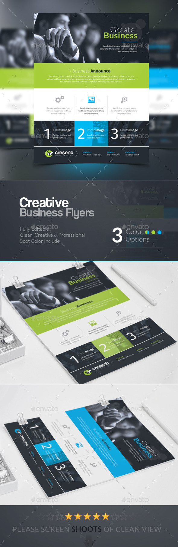 GraphicRiver Cresent Creative Business Flyers Adds 10428145