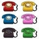 Vector Set of Color Retro Rotary Phones - GraphicRiver Item for Sale