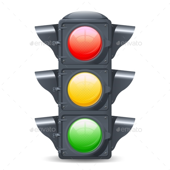 GraphicRiver Traffic Lights Realistic 10428202