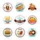 Fast Food Emblems - GraphicRiver Item for Sale